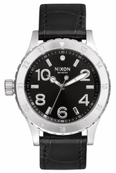 (Sale!!!) Nixon 38-20 Leather Watch<br>Black Gator