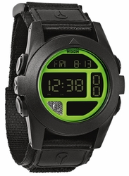 (SALE!!!) Nixon Baja Watch<br>Black/Neon Green