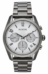 (Sale!!!) Nixon Bullet Chrono 36 Watch<br>Gunmetal/Silver