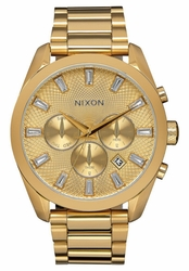 (Sale!!!) Nixon Bullet Chrono Crystal Watch<br>All Gold
