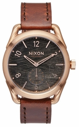 (Sale!!!) Nixon C39 Leather Watch<br>Rose Gold/Brown