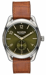(Sale!!!) Nixon C39 Leather Watch<br>Saddle Gator