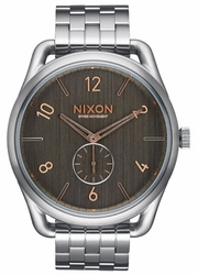 Nixon C45 SS Watch<br>Grey/Rose Gold