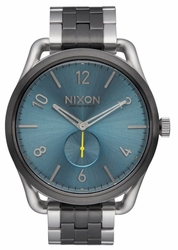 (Sale!!!) Nixon C45 SS Watch<br>Gunmetal/Aqua Sunray