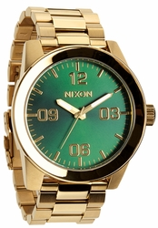 Nixon Corporal SS Watch<br>Gold/Green Sunray