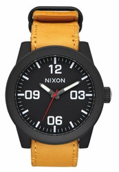Nixon Corporal Watch<br>All Black/Goldenrod