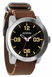Nixon Corporal Watch<br>Black/Brown
