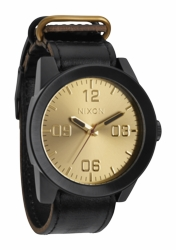 (Sale!!!) Nixon Corporal Watch<br>Black/Gold