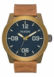 Nixon Corporal Watch<br>Brass/Navy/Hickory