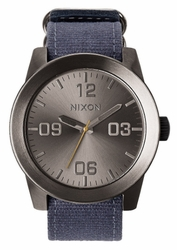 (Sale!!!) Nixon Corporal Watch<br>Gunmetal/Navy Patchwork