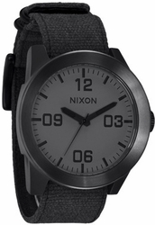 (Sale!!!) Nixon Corporal Watch <BR>Matte Black/Matte Gunmetal