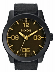 (Sale!!!) Nixon Corporal Watch<br>Matte Black/Orange Tint