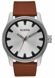(Sale!!!) Nixon Driver Leather Watch<br>Black/Brown