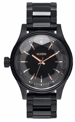 Nixon Facet 38 Watch<br>All Black/Rose Gold