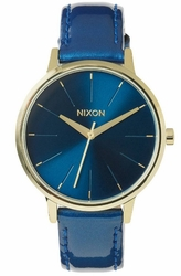 (Sale!!!) Nixon Kensington Leather Watch<br>Blue/Light Gold Patent