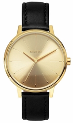 Nixon Kensington Leather Watch<BR>Gold