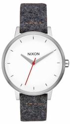 (Sale!!!) Nixon Kensington Leather Watch<br>Grey/Tan