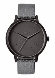 (Sale!!!) Nixon Kensington Leather Watch<br>Gunmetal/Shimmer