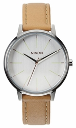 (Sale!!!) Nixon Kensington Leather Watch<br>Natural/Silver
