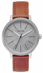 (Sale!!!) Nixon Kensington Leather Watch<BR>Saddle