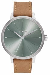 Nixon Kensington Leather Watch<br>Saddle/Sage