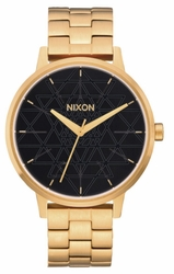 (Sale!!!) Nixon Kensington Watch<br>Gold/Black/Stamped
