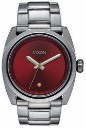(Sale!!!) Nixon Kingpin Watch<br>Gunmetal/Deep Burgundy