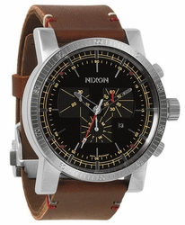 Nixon Magnacon Leather II Watch<br>Mens