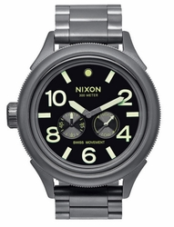 (Sale!!!) Nixon October Tide Watch<br>All Gunmetal/Lum