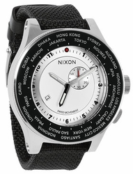 (SALE!!!) Nixon Passport Watch<br>White/Silver/Navy