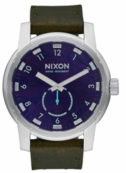 Nixon Patriot Leather Watch<br>Men's