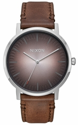 Nixon Porter Leather Watch<br>Ombre/Taupe