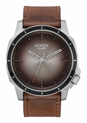 Nixon Ranger Ops Leather Watch<br>Ombre/Taupe