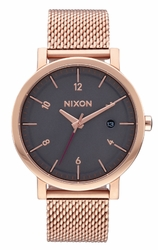 Nixon Rollo 38 SS Watch<br>All Rose Gold/Charcoal