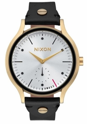 (Sale!!!) Nixon Sala Leather Watch<br>Light Gold/Black