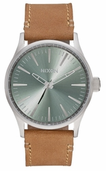 Nixon Sentry 38 Leather Watch<br>Mens