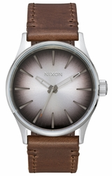 Nixon Sentry 38 Leather Watch<br>Ombre/Taupe