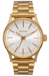 Nixon Sentry 38 SS Watch<br>All Gold/White Sunray