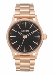 Nixon Sentry 38 SS Watch<br>All Rose Gold/Black