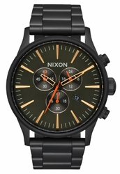 (Sale!!!) Nixon Sentry Chrono Watch<br>All Black/Surplus