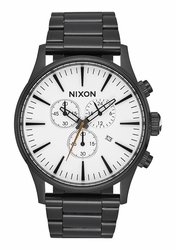 Nixon Sentry Chrono Watch<br>All Black/White