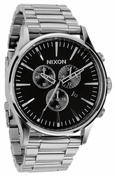 Nixon Sentry Chrono Watch<br>Black