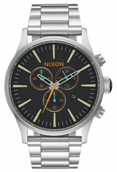 (Sale!!!) Nixon Sentry Chrono Watch<br>Black/Multi