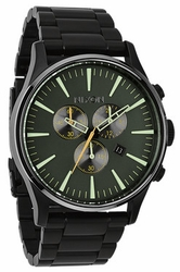 (Sale!!!) Nixon Sentry Chrono Watch<br>Matte Black/Surplus