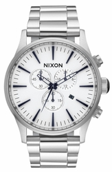 (Sale!!!) Nixon Sentry Chrono Watch<br>White/Sunray
