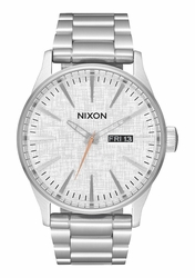 Nixon Sentry SS Watch<br>All Silver/Rose Gold