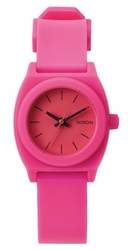 Nixon Small Time Teller P Watch<br>Hot Pink