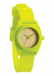 (Sale!!!) Nixon Small Time Teller P Watch<br>Neon Yellow/Beetlepoint