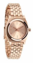 Nixon Small Time Teller Watch<br>All Rose Gold