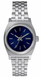 (Sale!!!) Nixon Small Time Teller Watch<br>All Silver/Cobalt